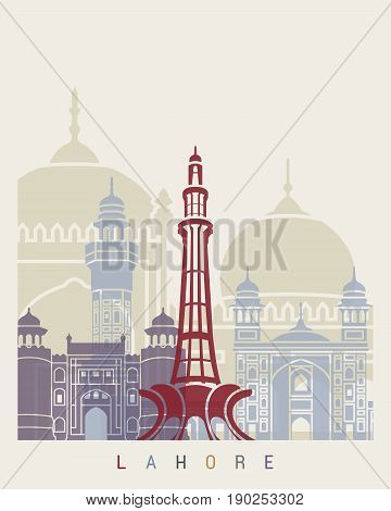 Lahore Skyline Poster