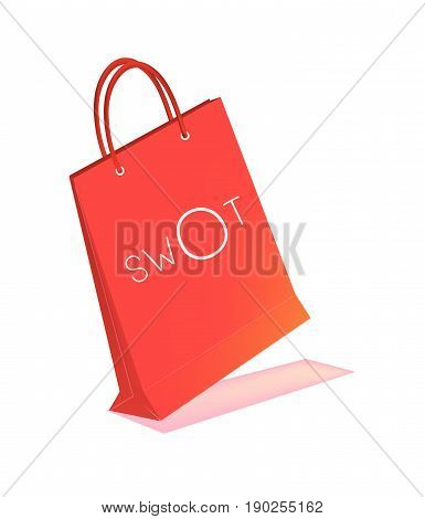 Paper Shopping Bags with SWOT Analysis Matrix A Structured Planning Method for Evaluate Strengths, Weaknesses, Opportunities and Threats Involved in Business Project.