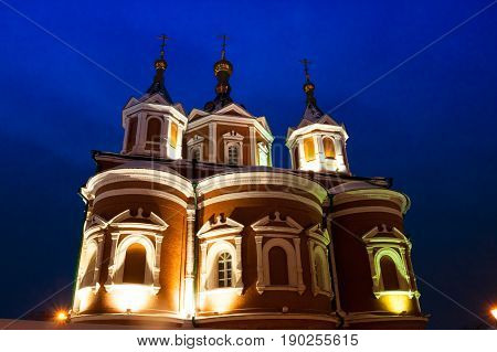 Kolomna, Moscow Region, Russia. Assumption Brusensky Female Monastery On Territory Of Kolomna Kremlin Close Up.