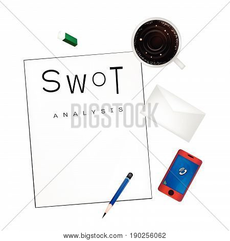 Business Plan, SWOT Analysis Matrix A Structured Planning Method for Evaluate Strengths, Weaknesses, Opportunities and Threats. A Foundation Strategy Management Plan.