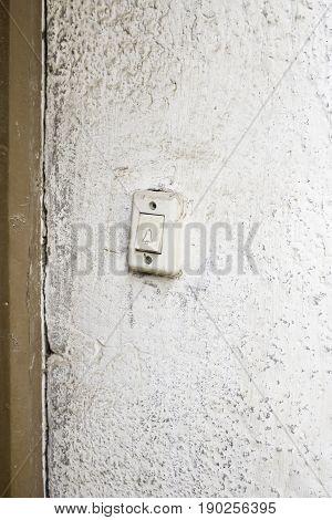 Door bell at urban building construction detail