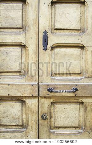 Door Closed Timber