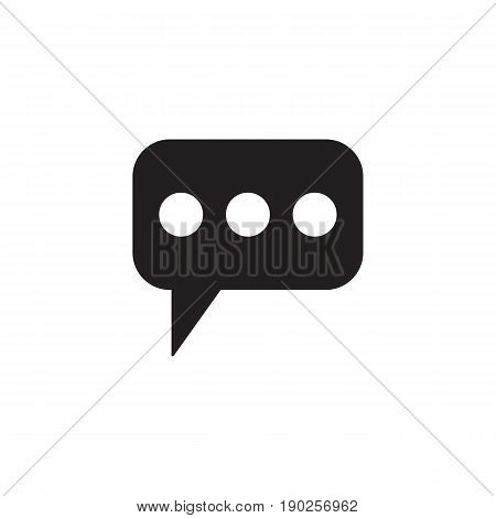 Message and speech bubbles solid icon, Modern sign for mobile interface, vector graphics, a filled pattern on a white background, eps 10.