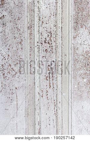Wooden plank torn urban building construction detail