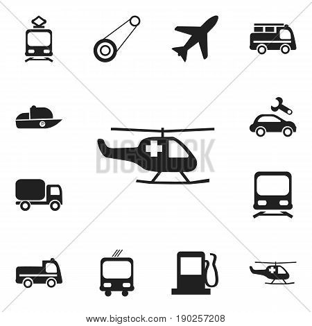 Set Of 12 Editable Transport Icons. Includes Symbols Such As Bogie, Wagon, Service Car And More. Can Be Used For Web, Mobile, UI And Infographic Design.