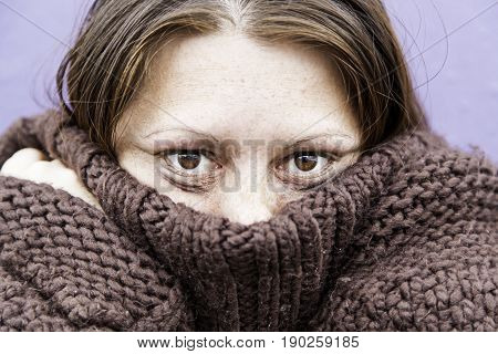 Girl With Eyes Beaten