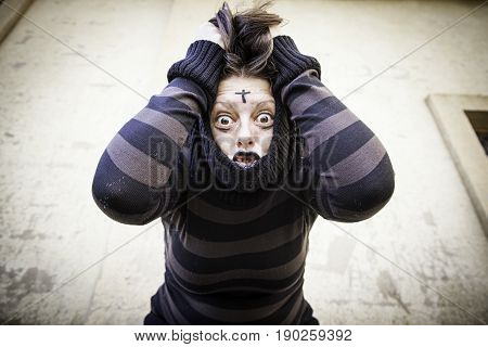 Psychiatric Scared Girl