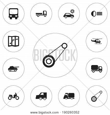 Set Of 12 Editable Shipment Icons. Includes Symbols Such As Autobus, Weapon, Luminary And More. Can Be Used For Web, Mobile, UI And Infographic Design.