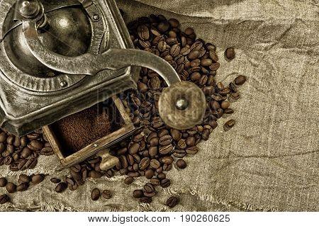 Old Metal Coffee Grinder