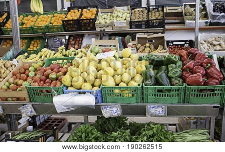 Greengrocer With Vegetables