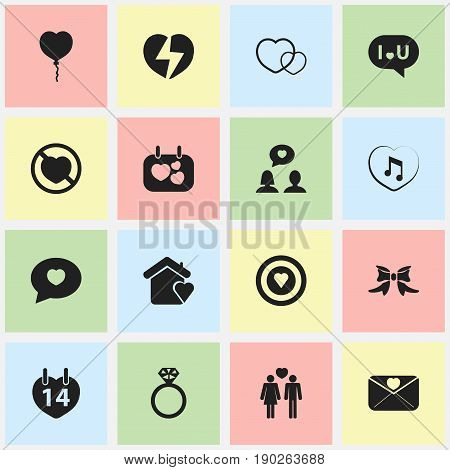 Set Of 16 Editable Amour Icons. Includes Symbols Such As Dartboard, Trappings, Valentines Day And More. Can Be Used For Web, Mobile, UI And Infographic Design.