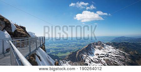 Lookout Platform At Nebelhorn Summit, Allgau Alps