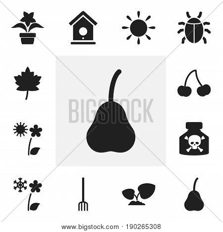 Set Of 12 Editable Agriculture Icons. Includes Symbols Such As Beetle, Frosts, Venom And More. Can Be Used For Web, Mobile, UI And Infographic Design.
