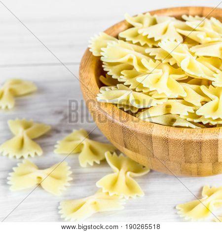 Dried Italian Bowtie Pasta Or Farfalle
