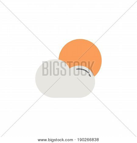 Weather flat icon, Sun with Cloud, Modern sign for mobile interface, vector graphics, a colorful filled pattern on a white background, eps 10.
