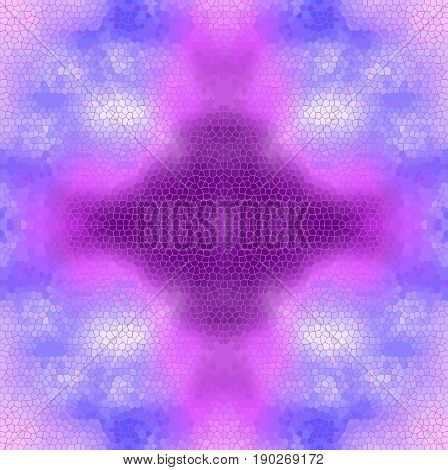 Stain-glass window background VECTOR template. Purple and violet