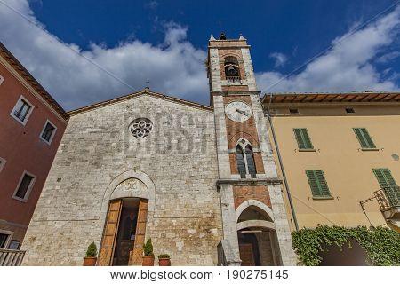 Saint Francis Church In San Quirico D'orcia