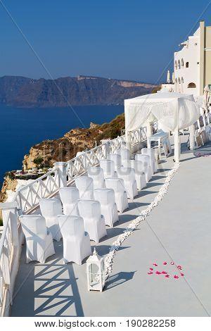 In The Sea  Of Santorini   Cerimony