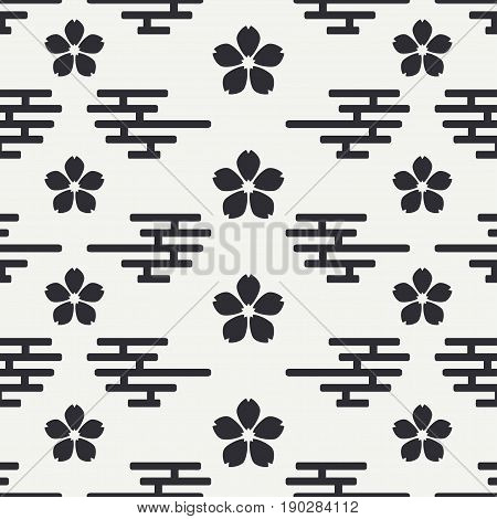 Geometric national seamless asian pattern. Wallpaper. Wrapping paper. Scrapbook. Vector illustration. Background. Japan. China. Graphic texture for your design and wallpaper.