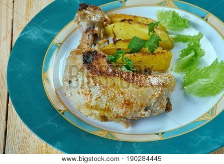 Poulet Dijon le Citron - Chicken with lemon and mustard on French
