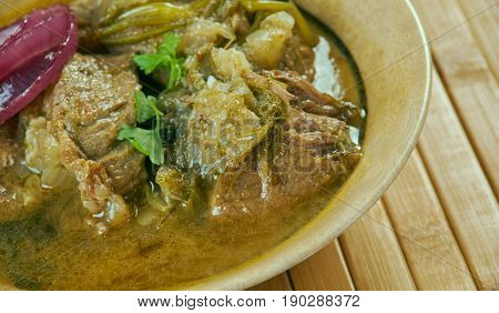 Ethiopian Lamb Onion Stew