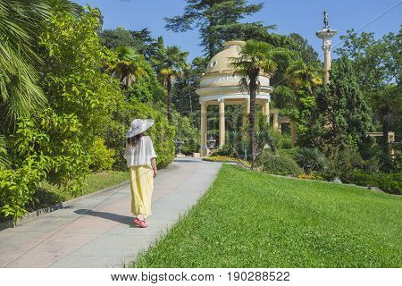 Russia, Sochi, Gazebo In The City Park