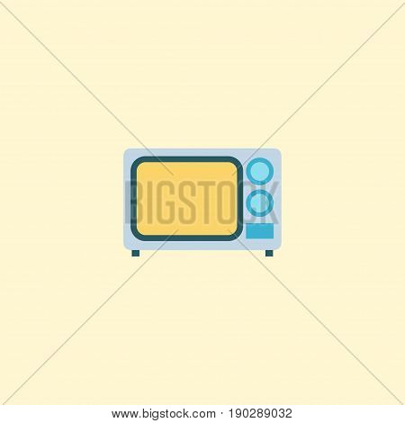 Flat Icon Microwave Element. Vector Illustration Of Flat Icon Electric Stove Isolated On Clean Background. Can Be Used As Microwave, Kitchen And Stove Symbols.
