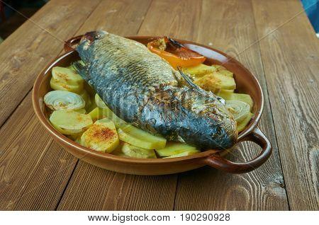 Sea Bass Baked Potatoes