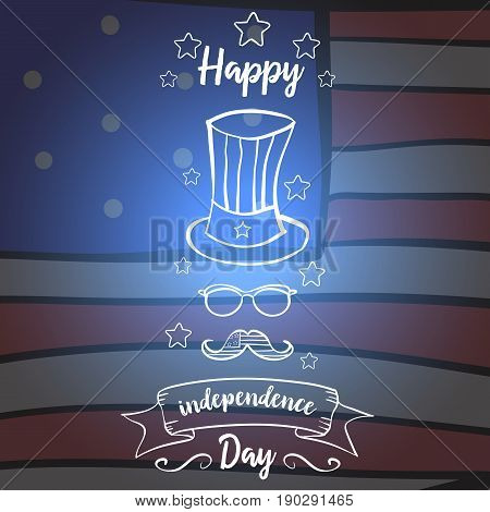 Independence day greeting card style collection stock