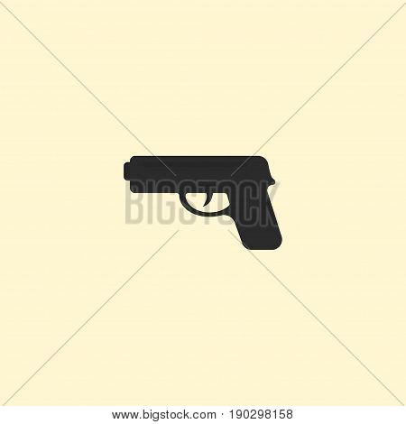 Flat Icon Weapon Element. Vector Illustration Of Flat Icon Gun  Isolated On Clean Background. Can Be Used As Gun, Weapon And Shot Symbols.