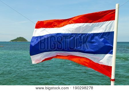 Waving Flag    In Thailand And South  Sea