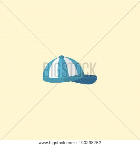 Flat Icon Cap Element. Vector Illustration Of Flat Icon Hat Isolated On Clean Background. Can Be Used As Cap, Beach And Hat Symbols.