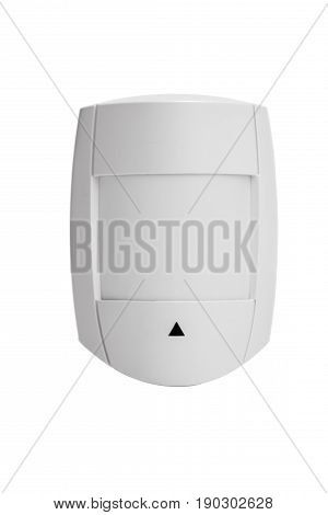 Home alarm system sensor isolated on white background
