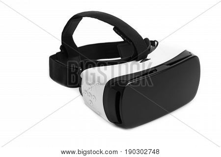VR virtual reality glasses. Virtual reality goggles isolated on white background.