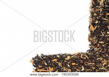 organic loose leaf tea making L shaped frame