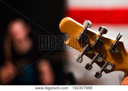 Guitar Guitar Close-up On A Man's Background, Rehearsal Group