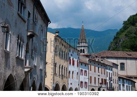 27 may 2017-vittorio veneto-italy-Historic central streets in the city of Vittorio Veneto