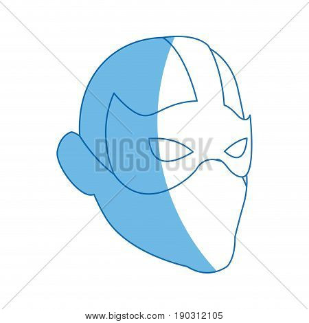 superhero man face male with the mask vector illustration