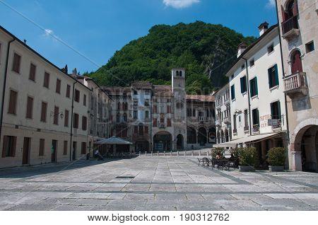 27 may 2017-vittorio veneto-Main square in the city of Vittorio Veneto