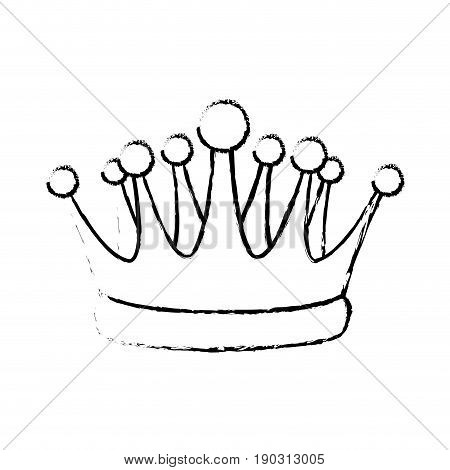crown kindom royalty luxury icon vector illustration