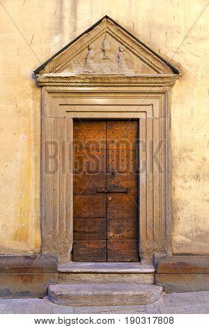 Door    Italy  Lombardy   Downhill Road Church