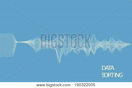 Data sorting abstract vector illustration. EPS 10.