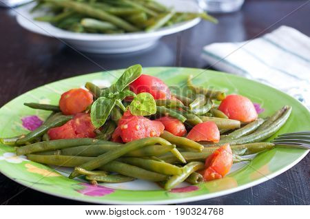 Fresh green beans to Provence from marsille