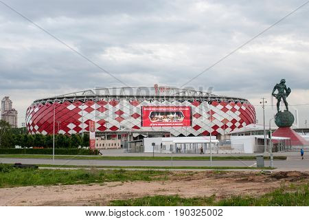 Russia, Moscow June 8, 2017  Spartak Stadium in Moscow where the matches of the FIFA Confederations Cup 2017 and the 2018 FIFA World Cup will be held.