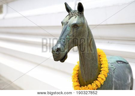 Horse  The Temple Bangkok Asia  Bronze   Wat  Palaces