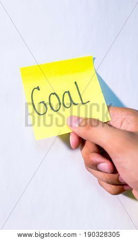 business success note idea and goal in the meeting