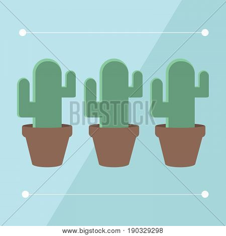 Изображение значка-символа растения кактус в стиле минимализм