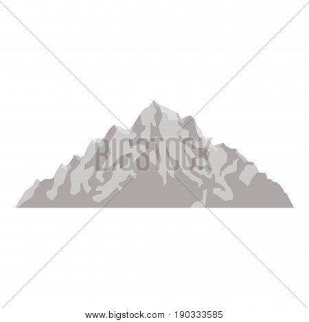 mountain peak nature high image vector illustration