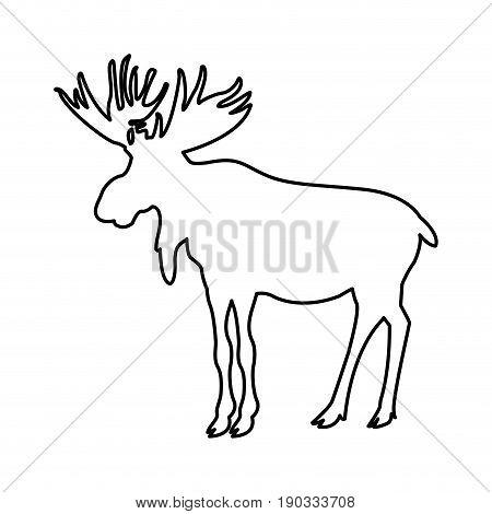 american elk animal forest wild life image vector illustration