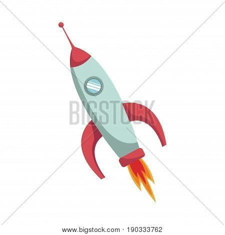space rocket launch power science vector illustration